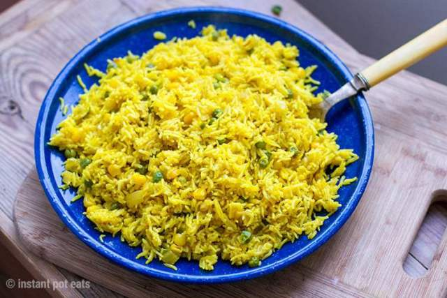 Yellow Rice Indian Instant Pot Recipe
