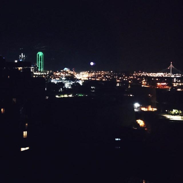 Dallas Skyline from the Hilton Anatole Dallas