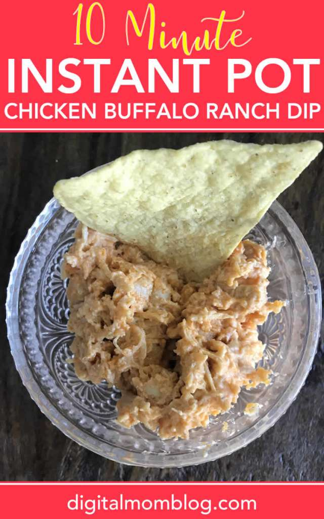 Instant Pot Chicken Buffalo Ranch Dip
