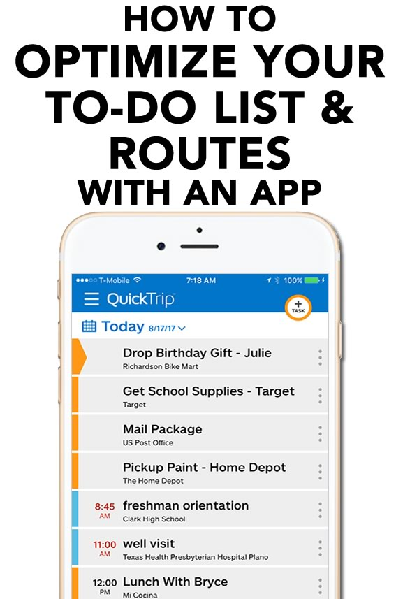 Quicktrip App To Do List and Route Optimizer