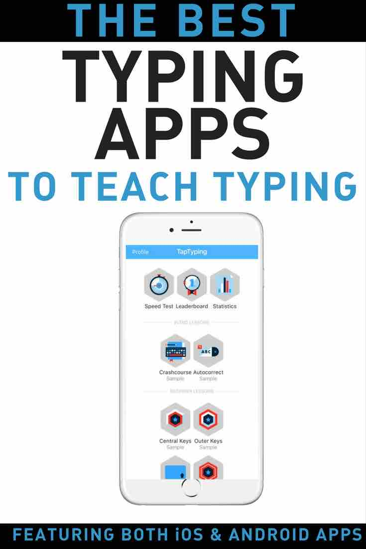 App to learn typing