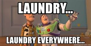 laundry everywhere