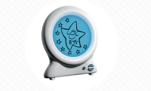 Glo Clock face lights up to let toddlers know when to get out of bed