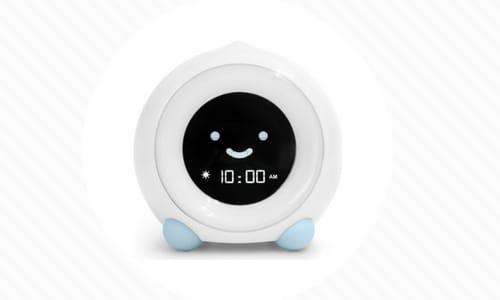 mella toddler alarm clock features light clock face