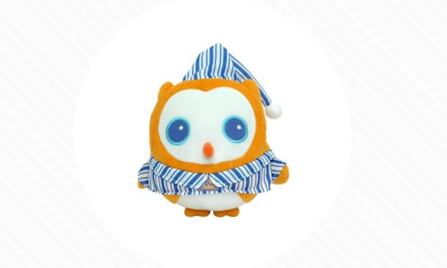 cute owl toy alarm helps kids stay in bed in pajamas
