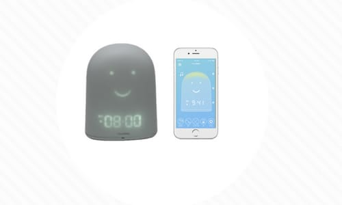 REMI Technology Baby Monitor Toddler Sleep Device Features Face the Lights Up Image Has iPhone App with REMI app