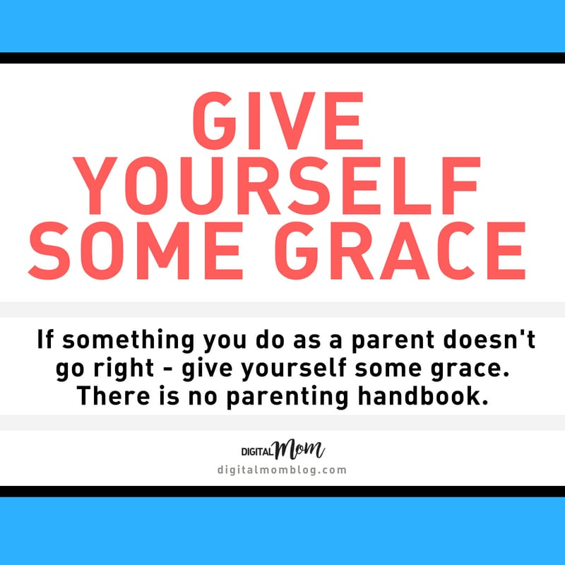 give yourself grace parenting tip