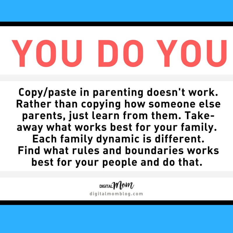 You do you parenting tip