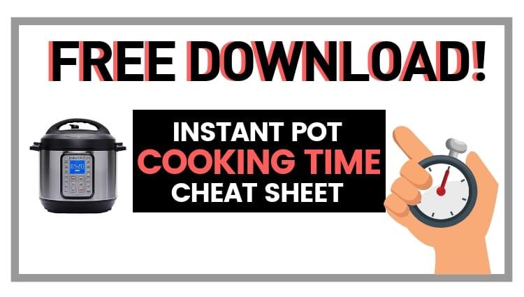 free download cheat sheet instant pot pdf