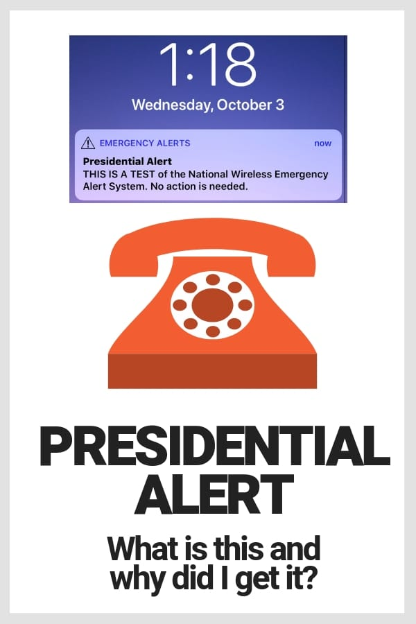 presidential alert screen shot iphone 1:18pm