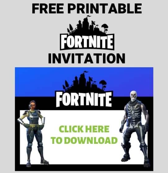 Fortnite invitation download