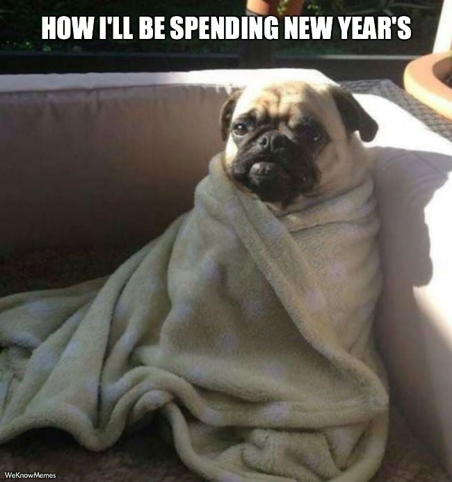 How I'll be spending new year's.