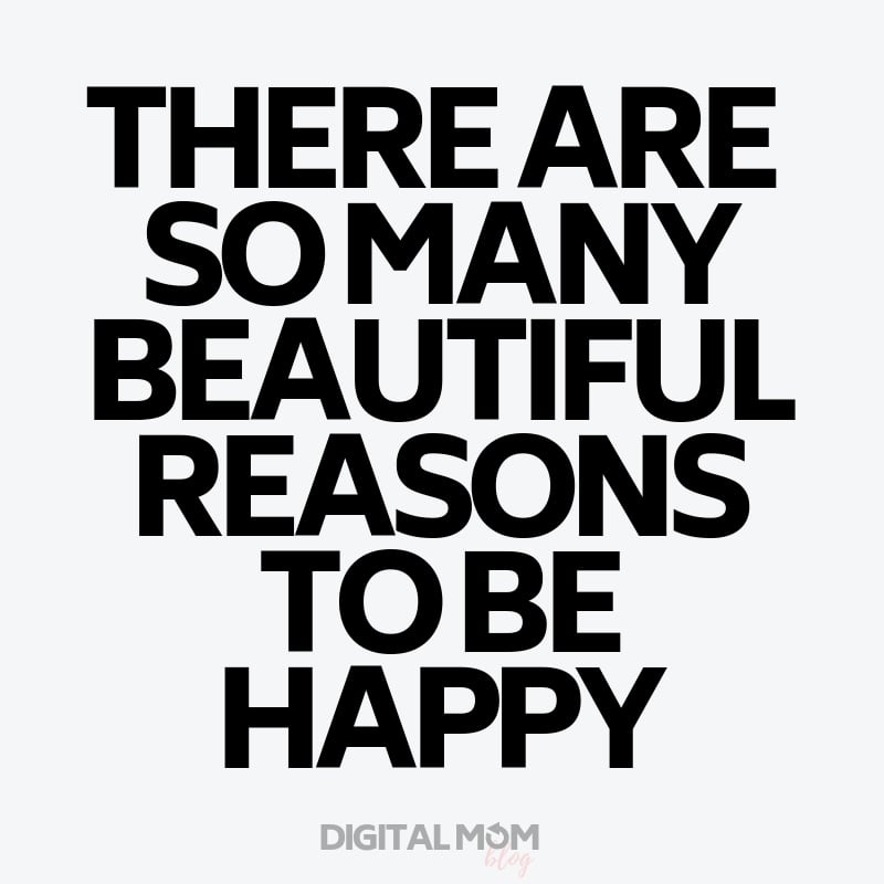 there are so many reasons to be happy - 2019 new years inspiration quote