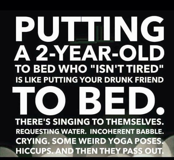 Putting a 2-Year-Old to Bed - About that. It's a never-ending routine. Good news, and bad. They grow up and out of this.