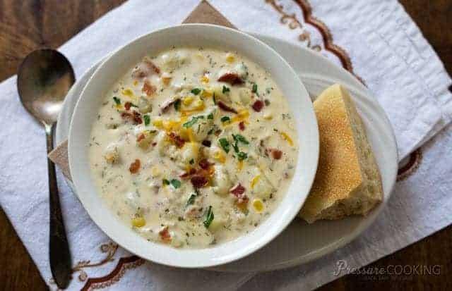 Chunky Potato Cheese Instant Pot Soup