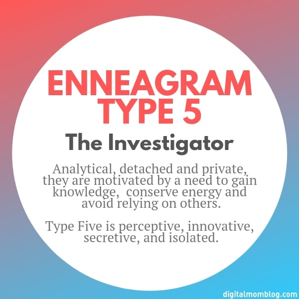 About Enneagram Type 5