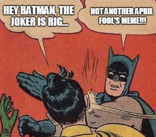 batman april fools memes