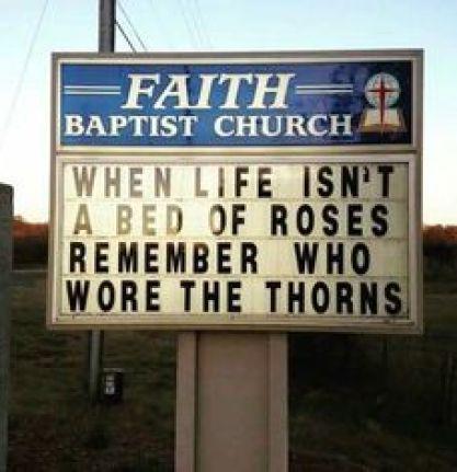 he wore thorns