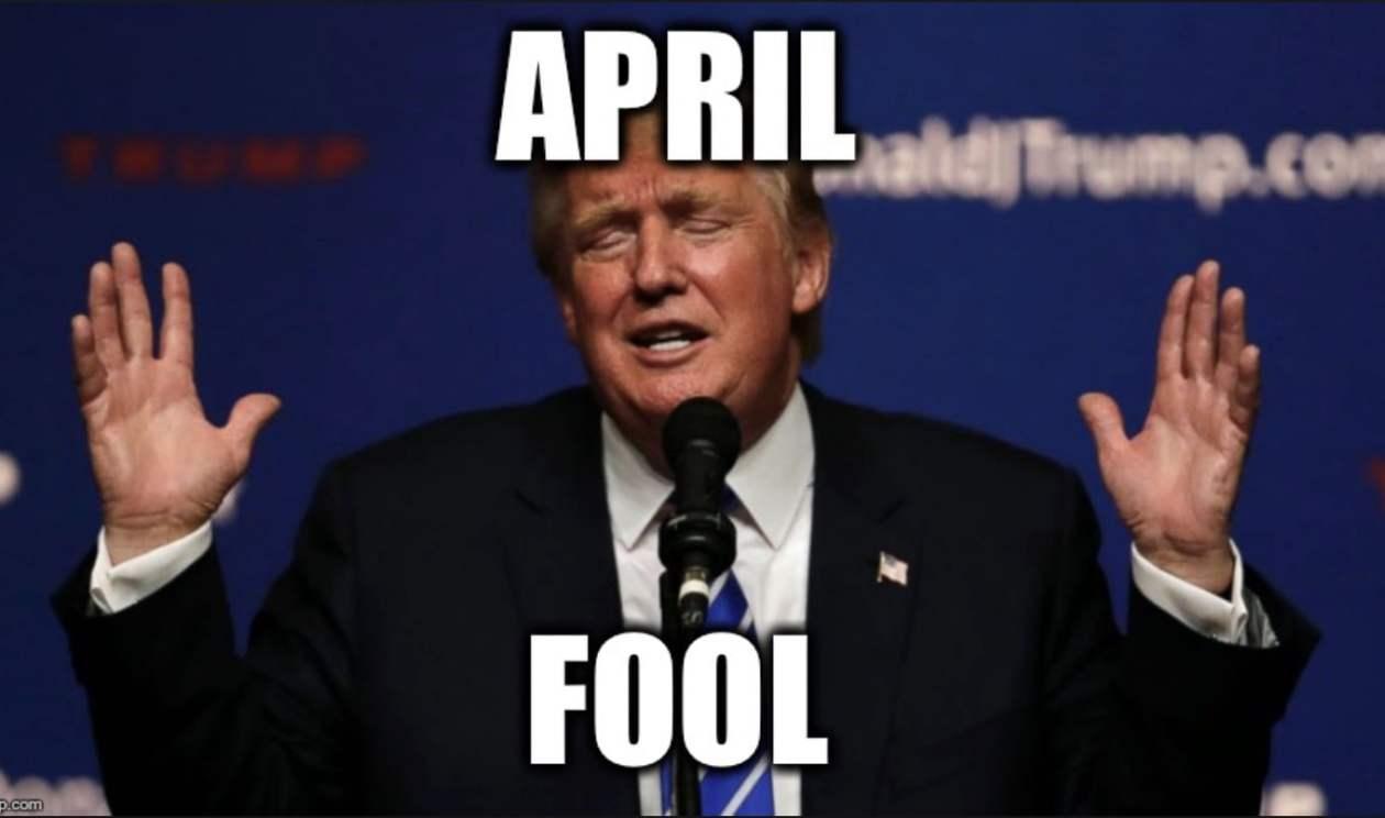 trump april fools day