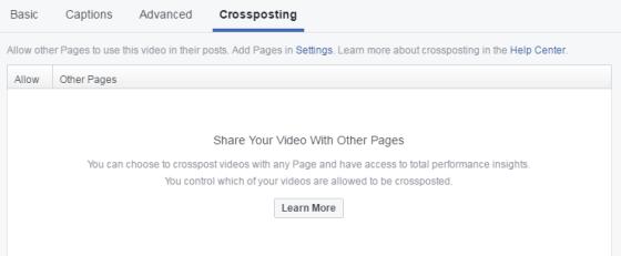 facebook unakrsno objavljivanje