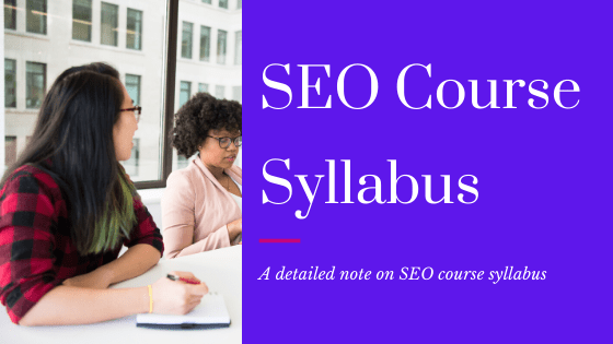 seo full course syllabus