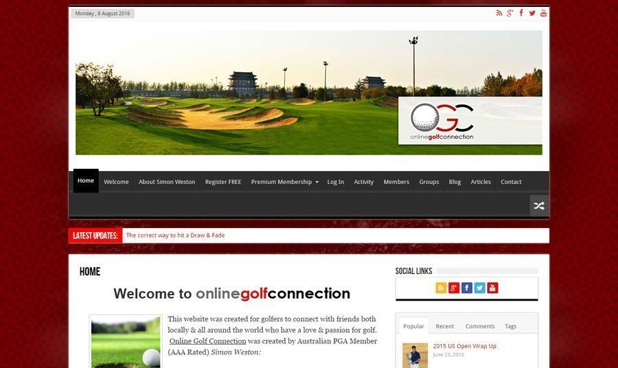 online golf connection