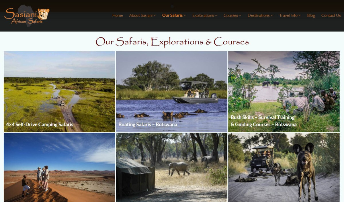 Sasiani African Safaris Explorations and Courses