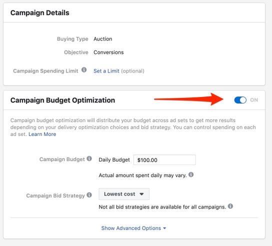 Facebook campaign optimization