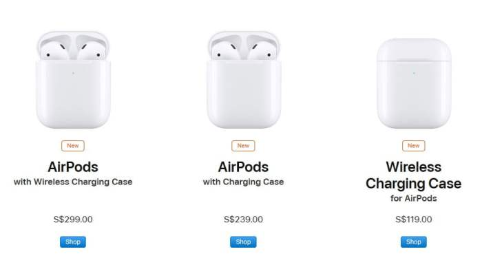 Apple Airpods 2 new price in singapore