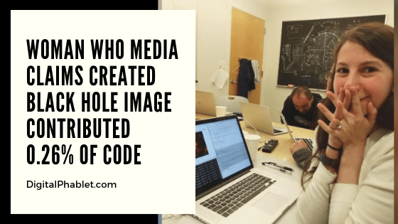 Katie Bouman Only Contributed 0.26% of the Black Hole Image Code