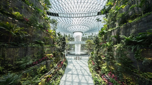 Jewel Changi Airport Singapore, With World's Tallest Indoor Waterfall