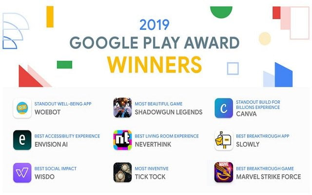 Google Play Award 2019 Winners - Top Android Apps And Games