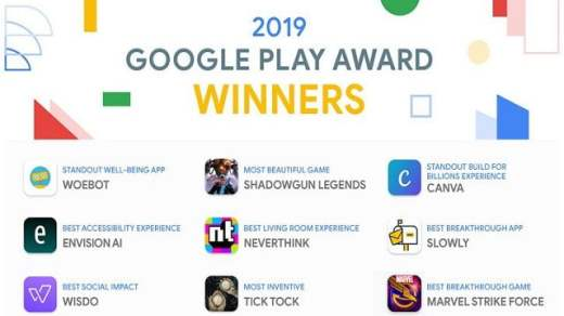 Google Play Award 2019 Winners