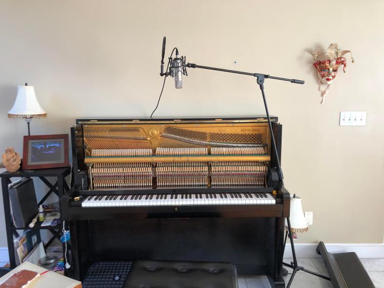 learn piano on a digital piano
