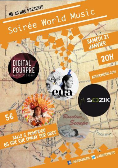 Affiche concert Ad'Hoc Epinay-sur-Orge - 21/0117