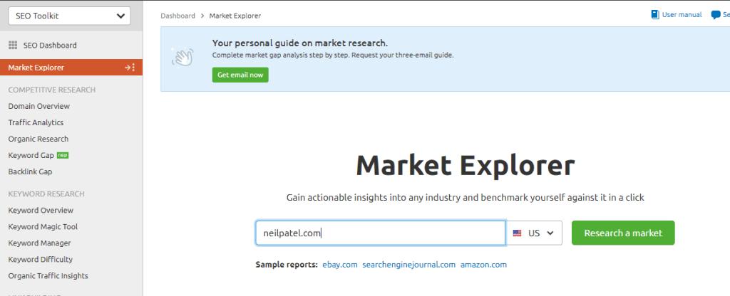 Market Explorer Tool