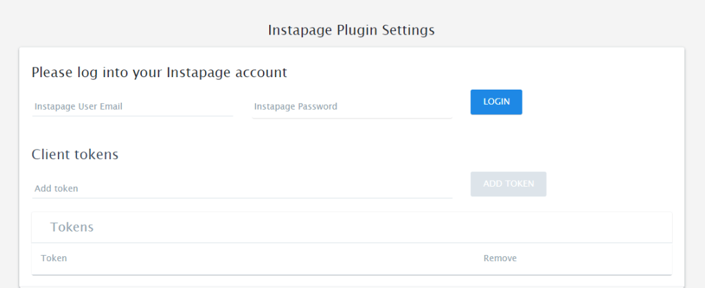 Instapage - WordPress plugin login