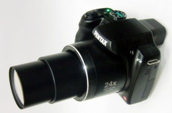 Pentax X70 with lens extended