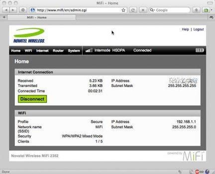 Novatel MiFi Web Login