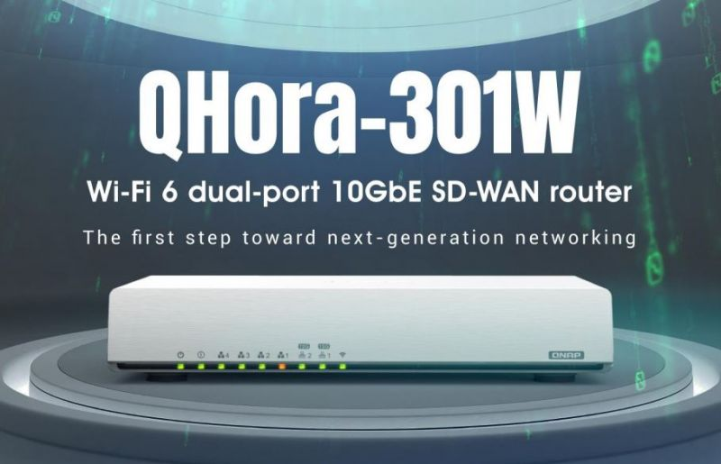 QNAP's new QHora-301W – Super Fast and Super Secure with Wi-Fi 6 and 10GbE
