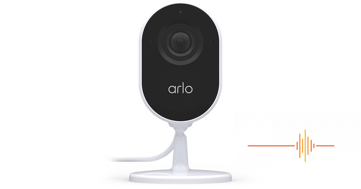 Arlo Essential Indoor Camera, with automated privacy shield