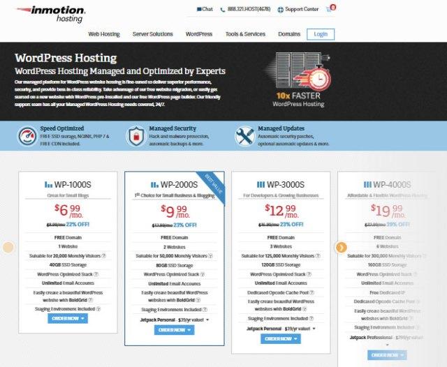 Inmotion Webhosting Website