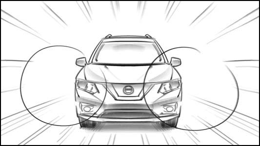 "Nissan Rogue ""Launch"" Storyboards – Max Forward"