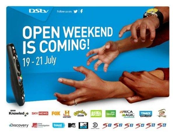 Dstv Open Weekend 19 July 21st July Digital Street