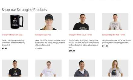 Anti-Google merchandise launched by Microsoft