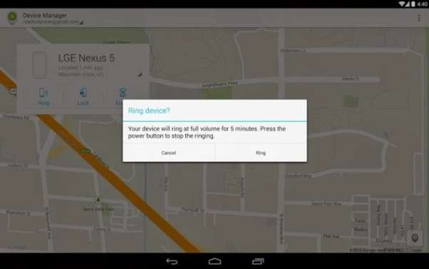 Google Android Device Manager app, Free download on Play Store