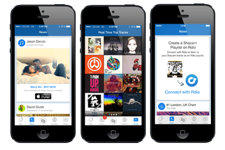 Shazam app for iPhone recognizes music on a locked phone
