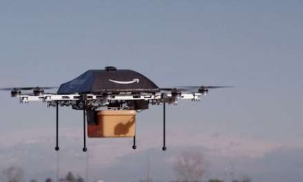 Amazon tests drones on delivery packages