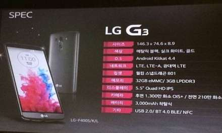 LG G3 specifications revealed, unofficially!