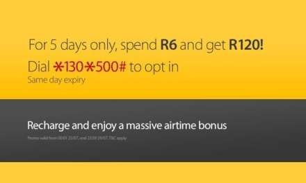 Spend R6 on MTN get R120 free airtime – 5 Days Only